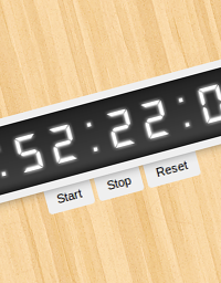 Make a stopwatch using CSS3 without images or javascript